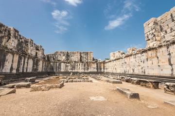 Ruins of ancient Apollo temple in Didyma, Turkey