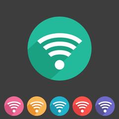 Wireless, wifi flat icon
