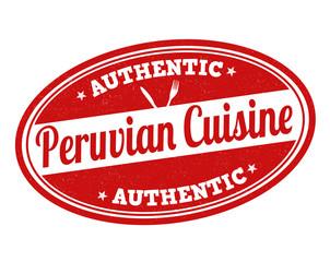 Peruvian cuisine stamp