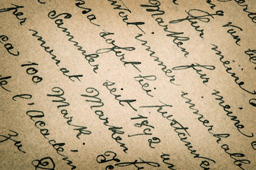 old handwritten text in german language