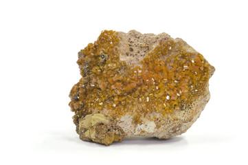 Vanadinite (vanadium ore), Djebel Mahseur, Morocco. 6.3cm across
