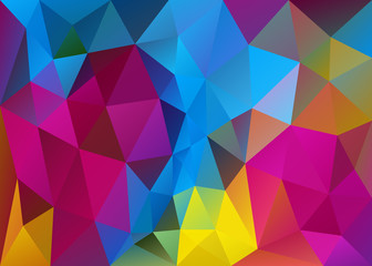 low poly colorful abstract background