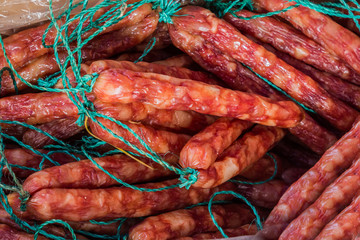 Chinese pork sausage.