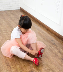 Girl practicing dance