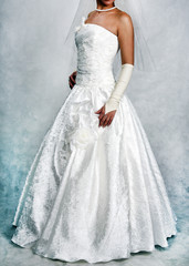 Wedding dress, shooting for the catalog of wedding dresses 2