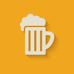 beer mug design element