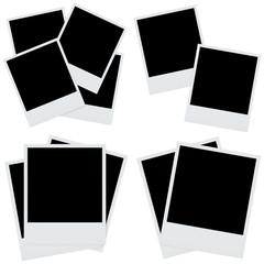 set photo frames isolated