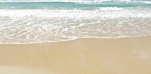 white clean sand beach