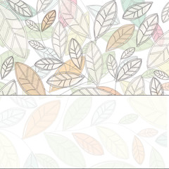 background with light leaves