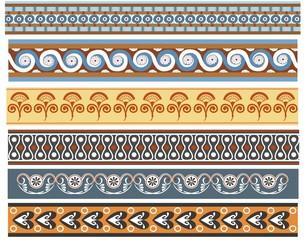 A set of ancient Minoan pattern designs