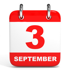 Calendar. 3 September.