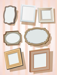 Set of picture frames.