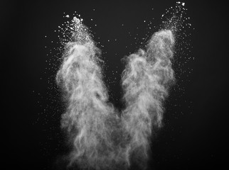 Freeze motion of white dust explosion