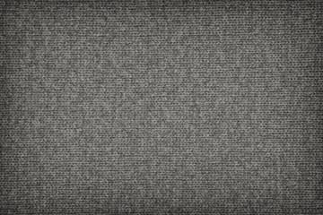 Woolen Woven Fabric Gray Vignette Grunge Texture