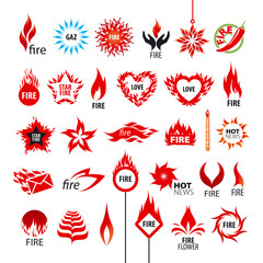 biggest collection of vector logos fire and flames