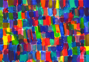 Child's painting - abstract spots