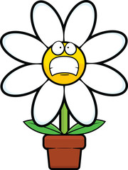 Cartoon Daisy Worried