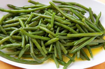 Fagiolini verdi conditi con olio extravergine d'oliva