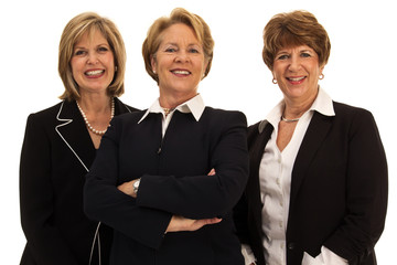 Three Relaxed Business Women