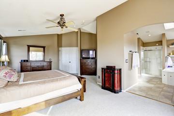 Luxury master bedroom interior