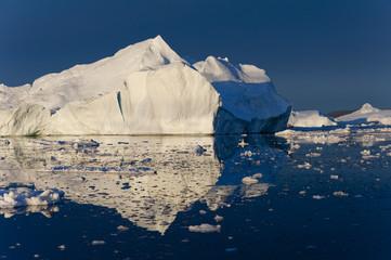 Iceberg in Disko Bay by sunset, Ilulissat, Greenland