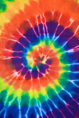 Wall Mural - colorful tie dye fabric texture background