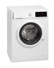 A washing machine isolated over white.