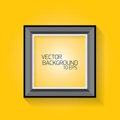 vector modern black frame on orange wall
