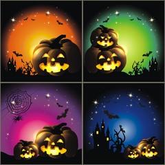 4 Halloweenhintergründe