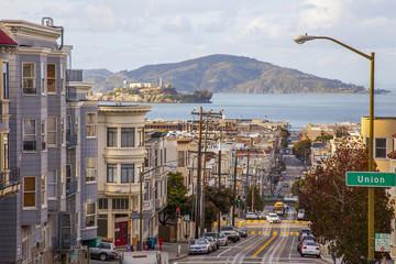 Foto op Canvas San Francisco San Francisco Blick auf Alcatraz