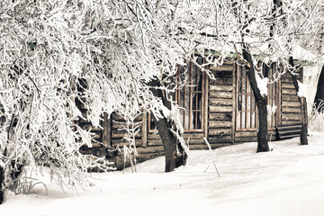 winter the hunting lodge