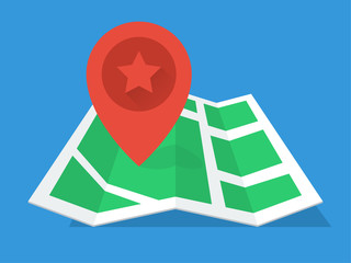 GPS Map modern flat design icon
