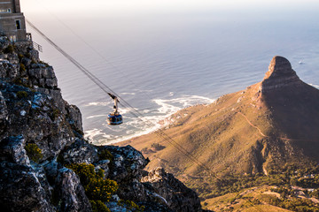 Staande foto Zuid Afrika Table Mount Cable Car in Cape Town South Africa