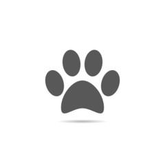 Cat paw print icon.