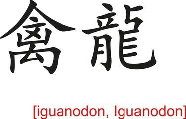 Chinese Sign for iguanodon, Iguanodon