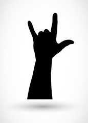 Rock hand gensture vector