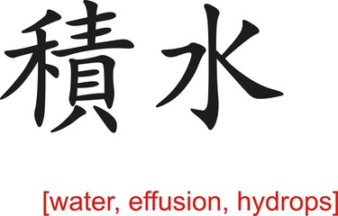 Chinese Sign for water, effusion, hydrops