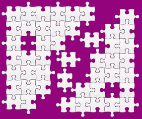 puzzle sur fond violet