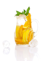 Fresh tasty citrus coctail with ice