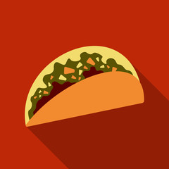 Mexican taco vector illustration