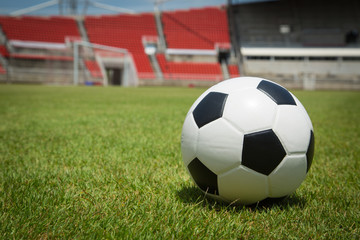 Soccer Stadium ball in the goal