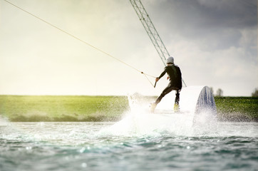 Wakeboarder on Opsticle Wall mural