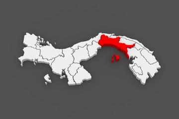Map of Panama. Panama.