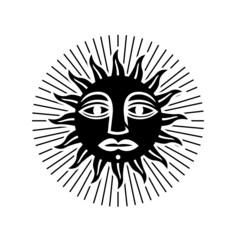sun symbol vector illustration