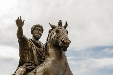 statue of Marcus Aurelius, Campidoglio, Rome, Italy