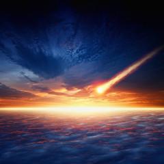 Fototapete - Asteroid impact