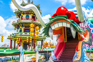 Kaohsiung - Taiwan, the religious character of the building