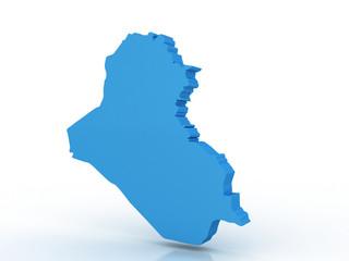 3D render map of Iraq