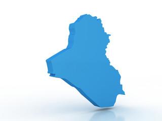 High detailed map Iraq 3D