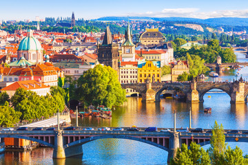 Photo sur Aluminium Prague Bridges of Prague, Czech Republic